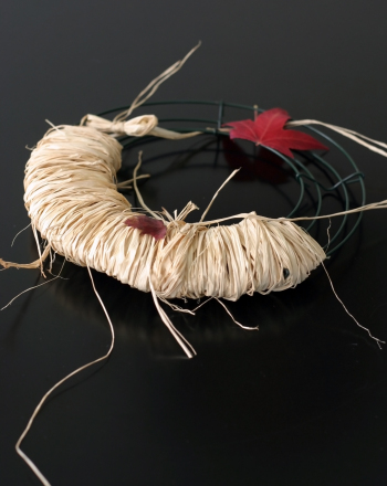 Fourth Grade Holidays & Seasons Activities: Make a Raffia-Wrapped Fall Wreath