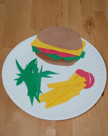 First Grade Arts & Crafts Activities: Paper Food