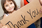 Having trouble teaching your child to say 'thank you' without a reminder?  Here are a few tips to get going.