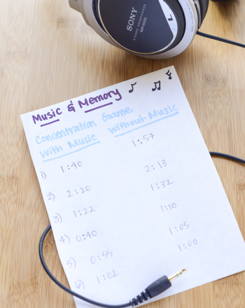 Music Science Fair Project: The Effect of Music on Memory