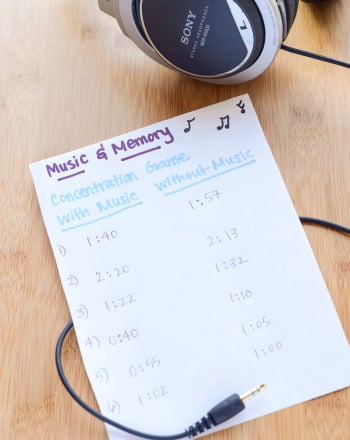 Middle School Social Studies Science Projects: The Effect of Music on Memory