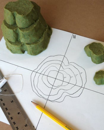 Fourth Grade Science Science projects: Create a Contour Map