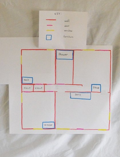 Second Grade Offline Games Activities: Map My House