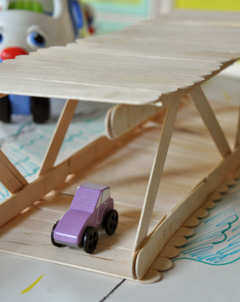 Third Grade Arts & Crafts Activities: Build a Popsicle Stick Bridge