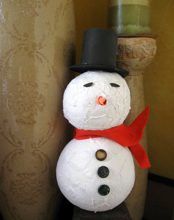 Fourth Grade Holidays Activities: Papier-Mâché Snowman