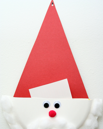 "First Grade Reading & Writing Activities: Make a Santa ""Wish List"" Holder"