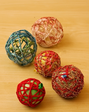Third Grade Holidays & Seasons Activities: Yarn Ornaments