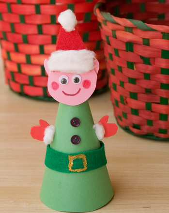 Second Grade Holidays Activities: Elf Craft