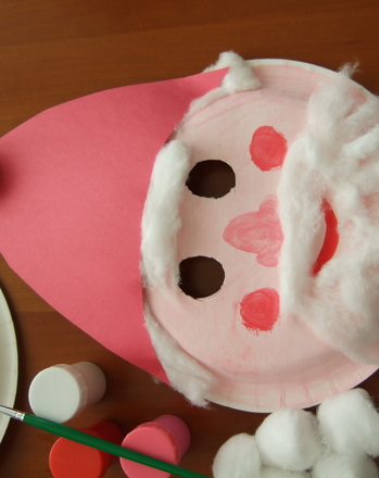 Kindergarten Arts & crafts Activities: Santa Mask