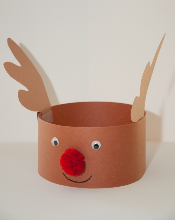 First Grade Seasons Activities: Reindeer Hat
