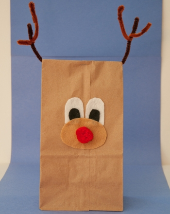 paper bag reindeer activity