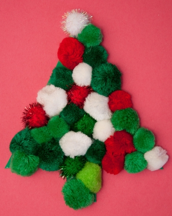 Kindergarten Holidays & Seasons Activities: Pom Pom Christmas Tree