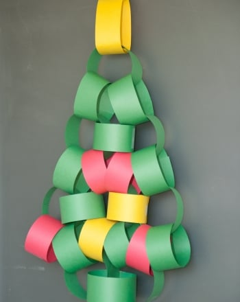 Kindergarten Holidays Activities: How to Make Paper Christmas Trees