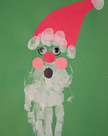 Kindergarten Holidays & Seasons Activities: Handprint Santa