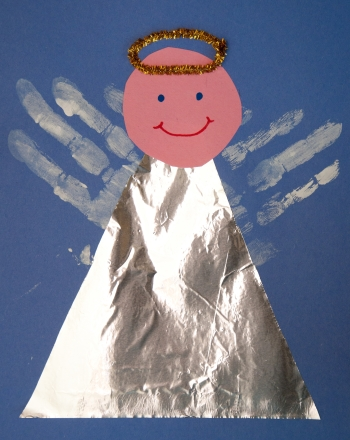 Kindergarten Holidays & Seasons Activities: Handprint Angel