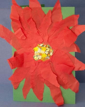 Kindergarten Holidays Activities: Paper Poinsettia