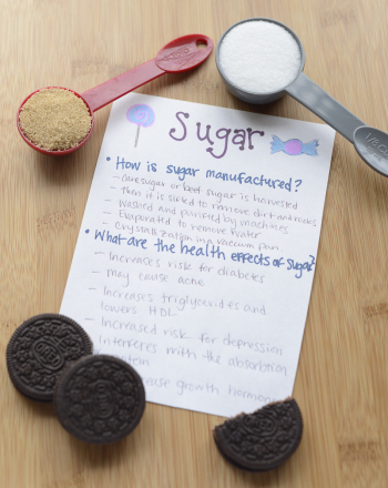Fourth Grade Science Science projects: Sweet Tooth