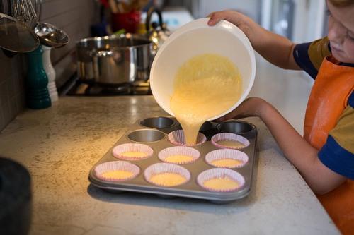 Kindergarten Recipes Activities: Bake Healthy Dinner Cupcakes