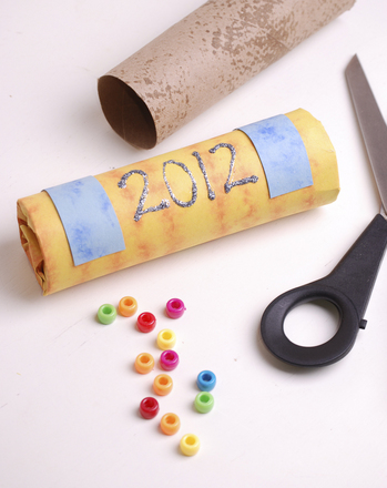 Preschool Holidays & Seasons Activities: New Year's Recycled Noisemakers