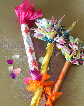Third Grade Holidays Activities: Confetti Wands