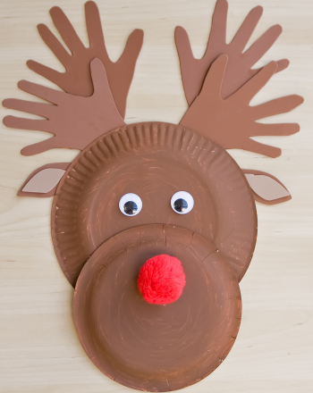 Preschool Holidays & Seasons Activities: Make a Paper Plate Reindeer