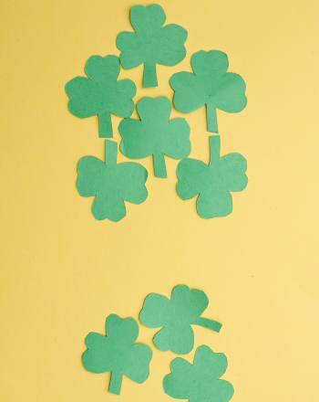 First Grade Holidays & Seasons Activities: Make Patterned Shamrock Art