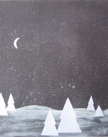 Kindergarten Arts & crafts Activities: Snow Scene