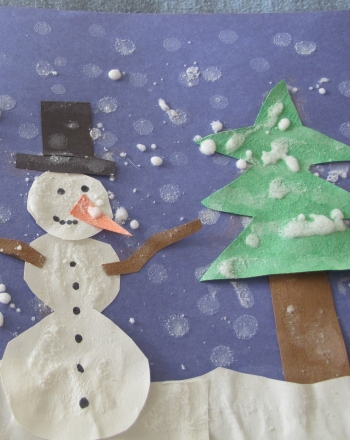 First Grade Holidays & Seasons Activities: Winter Snow Scene