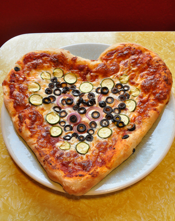 First Grade Holidays & Seasons Activities: Heart-Shaped Pizza