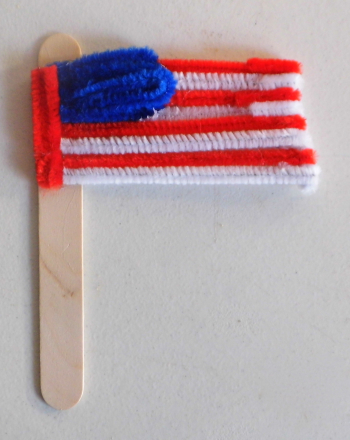 Second Grade Holidays Activities: Flag Craft