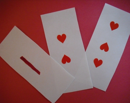 Preschool Math Activities: Valentine's Day Math Cards