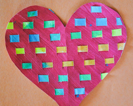 Third Grade Arts & crafts Activities: Woven Heart