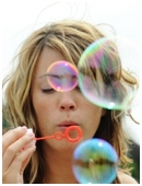 Can you imagine a sky filled with bright, colorful bubbles? Make this whimsical scene come alive with bubble science!