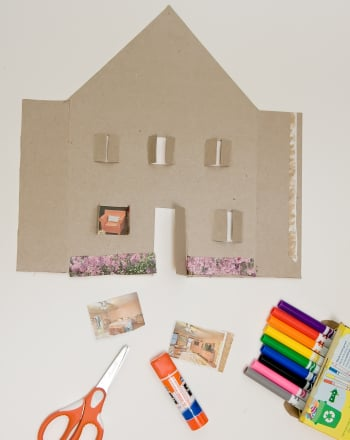 Kindergarten Arts & crafts Activities: Make a Cereal Box House
