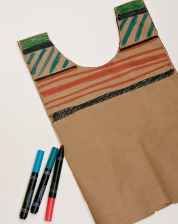 Kindergarten Holidays & Seasons Activities: Make a Paper Bag Serape