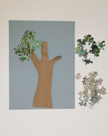 Kindergarten Arts & Crafts Activities: Puzzle Piece Tree