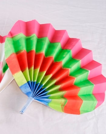 Second Grade Social Studies Activities: Korean Paper Fans