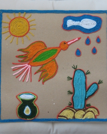 Third Grade Holidays & Seasons Activities: Create a Mexican Inspired Yarn Picture