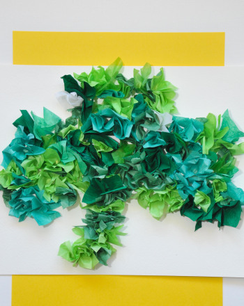 Second Grade Arts & crafts Activities: Tissue Paper Clover