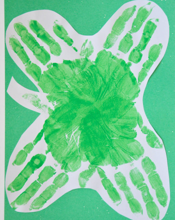 Kindergarten Holidays Activities: Four-Leaf Clover Picture