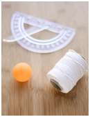 Learn how to make a ping pong ball anemometerâa device used to measure wind speedâin this free science fair project idea.