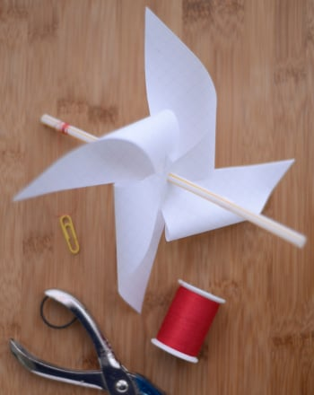 How to make paper wind wheel