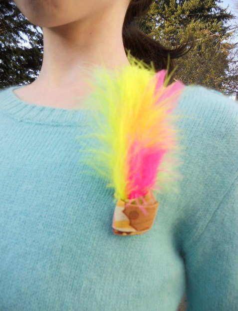 Fourth Grade Arts & crafts Activities: Feather Pin