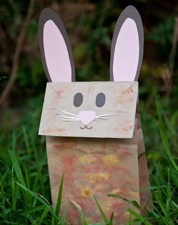 Preschool Holidays Activities: Make a Bunny Paper Bag Puppet