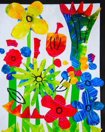 Fourth Grade Arts & crafts Activities: Flower Painting