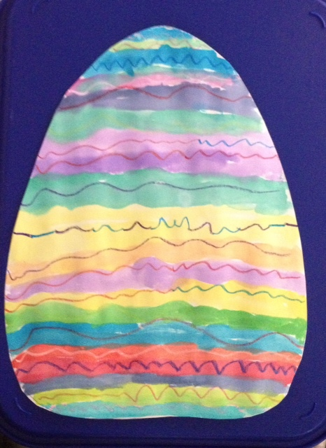 Kindergarten Arts & crafts Activities: Easter Egg Painting
