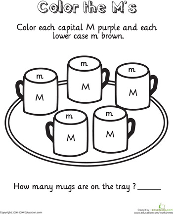 color and count the alphabet worksheets. Black Bedroom Furniture Sets. Home Design Ideas
