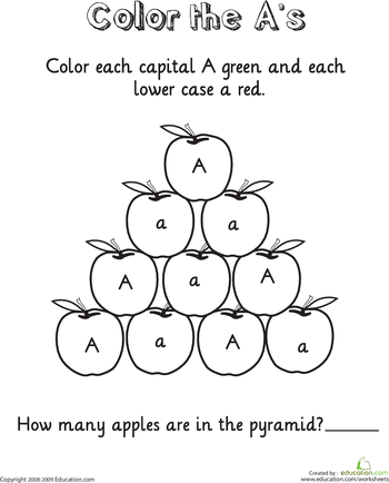 Color and Count the Alphabet Worksheets | Education.com