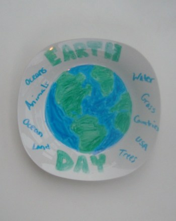 Second Grade Arts & crafts Activities: Earth Plate