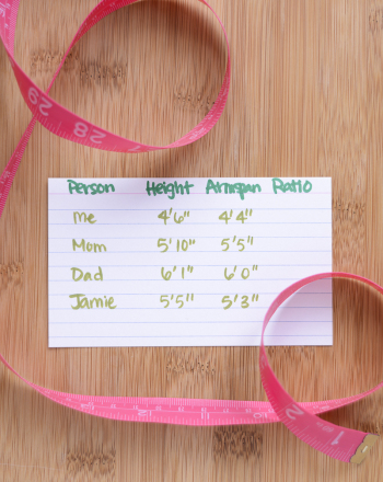 Middle School Science Science Projects: Are Armspan and Height Genetically Determined?